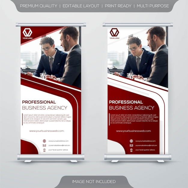 Business roll up stand banner template