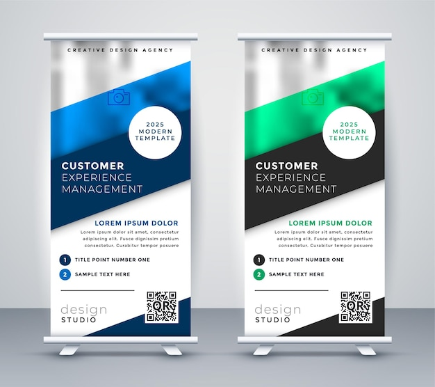 Business roll up standee banner template