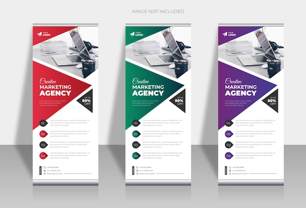 Business roll up standee or x banner design