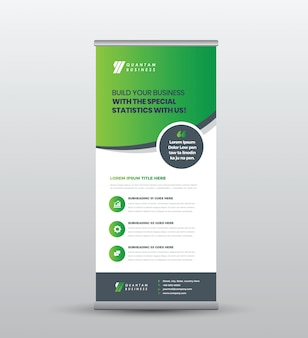 Business roll up standing banner & poster design