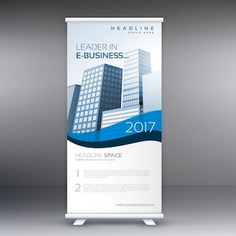Pulito e moderno roll up banner template per il vostro business