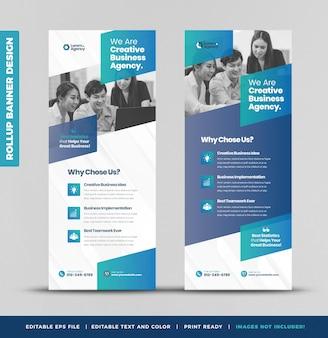 Business rollup banner design or stand up banner or vertical signage or poster design