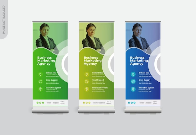 Business rollup banners