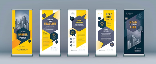 Business rollup set, standee xbanner template