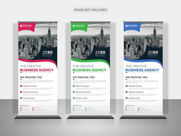 Business rollup or x banner design template