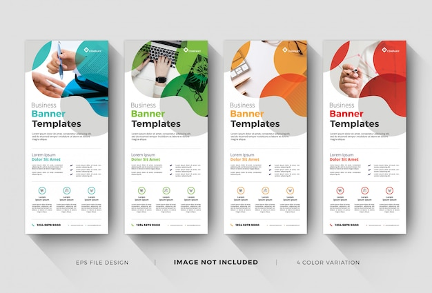 Business rollup or x-banner templates