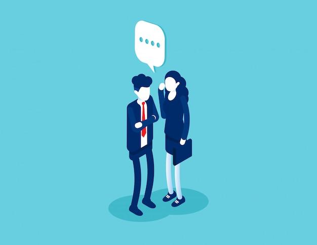 ビジネスは他の人に何かを言う