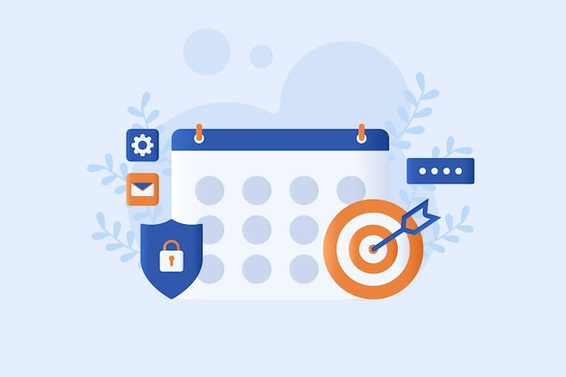 Business schedule vector illustration