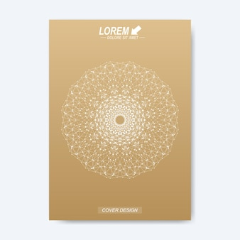 Макет книги о бизнес-дизайне, науке и технологиях