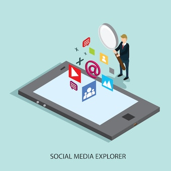Business searching social media technology