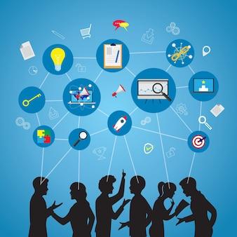 ビジネスセミナーチームワークコンセプト