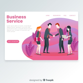 Business service landing page