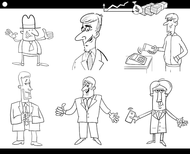 Business set coloring page