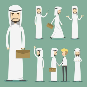 Business sheikh character collection