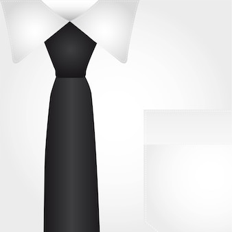 Business shirt with black tie background vector illustration