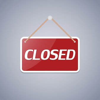 Business sign closed