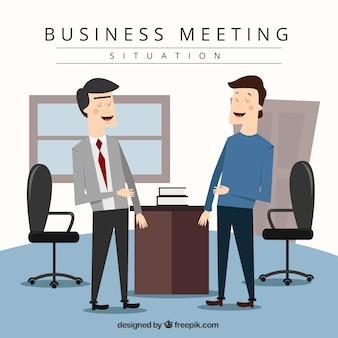 会話中のビジネスの状況