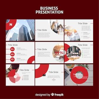 Business slide presentation template