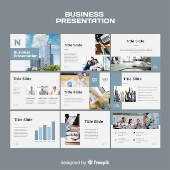 Business slide presentation template