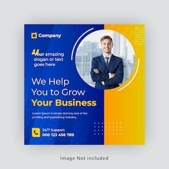 Business social media baner template