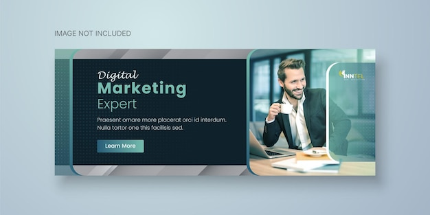 Business social media banner template with facebook cover design premium vector