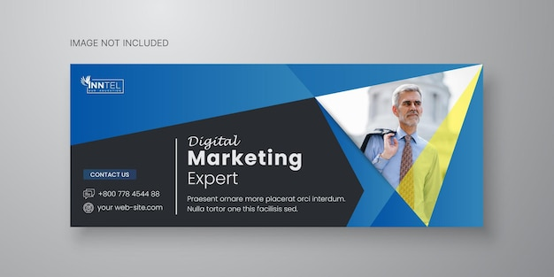 Business social media banner template with facebook cover design