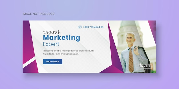 Business social media banner template