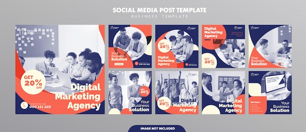 Business social media feed post template