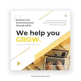 Business social media post banner template