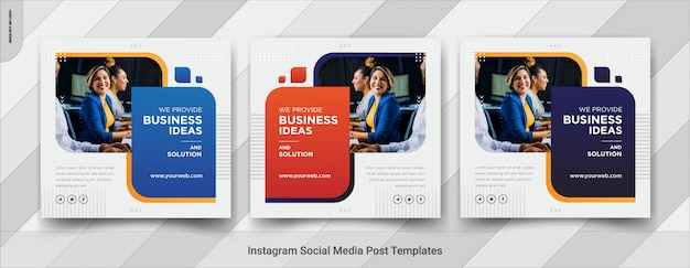 Business social media square post template