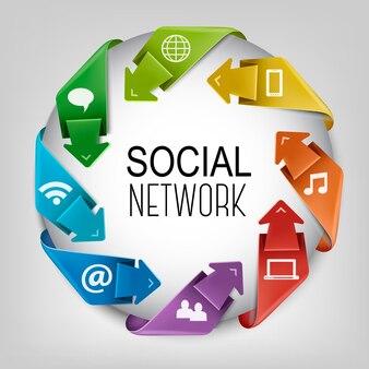 Business social network concept.