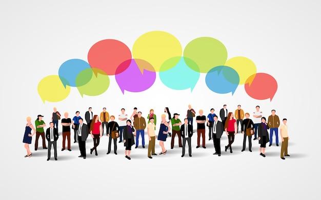 ビジネスソーシャルネットワーキングとコミュニケーションの概念