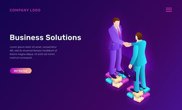 Бизнес-решение и соглашение изометрической концепции