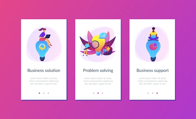 Business solution app interface template