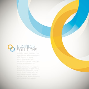 Business solution background vector