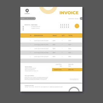 Business solutions invoice template