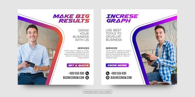Business solutions social media post templates