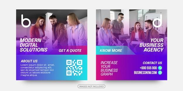 Business solutions social media post