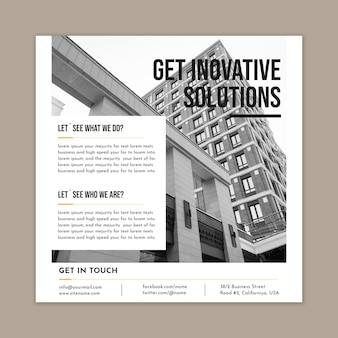 Business solutions squared flyer template