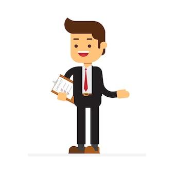Business speaker doing presentation