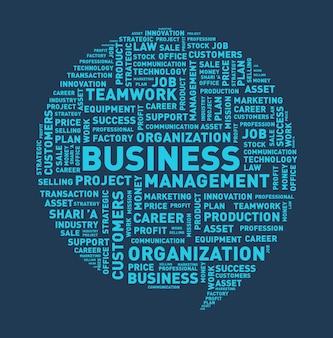 Business speech bubble, word cloud vector