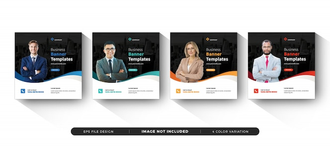 business square banner template social media
