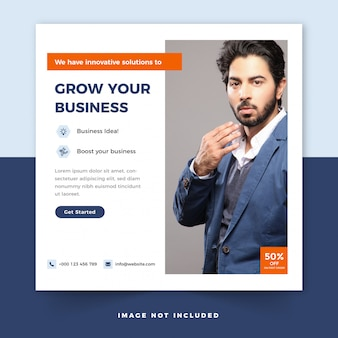 Business square flyer or instagram post template