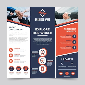 Business square flyer template