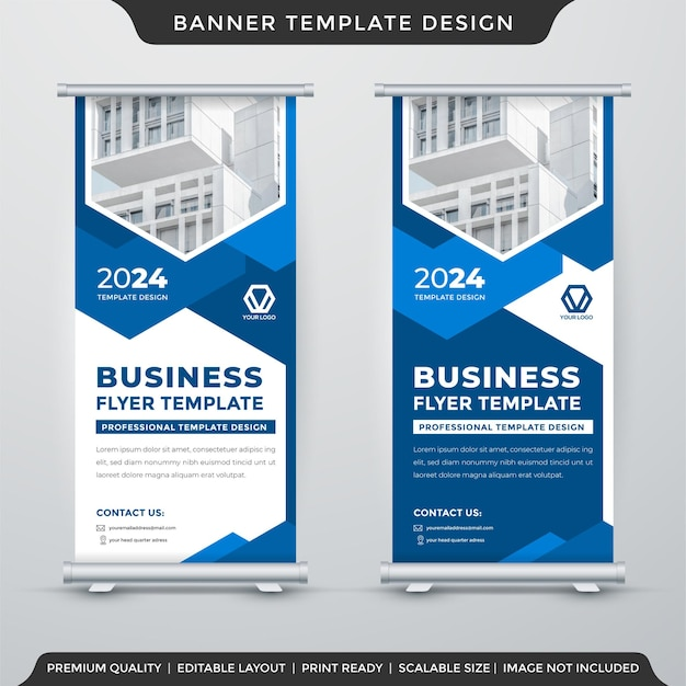 Business stand banner template design