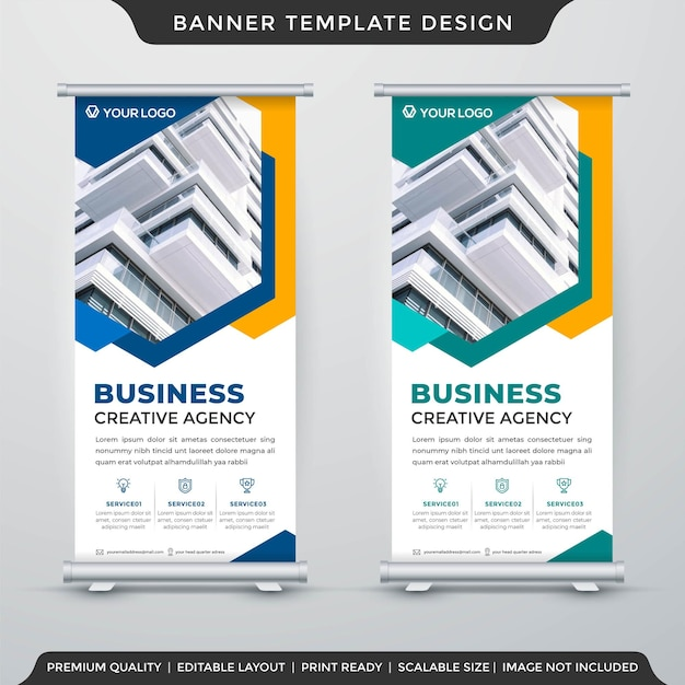 Business stand banner template premium style