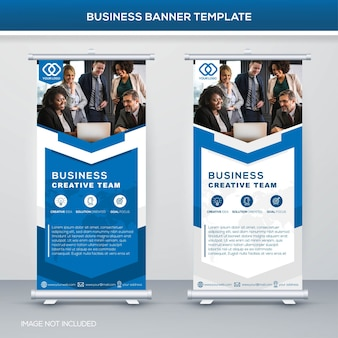 Business stand banner template