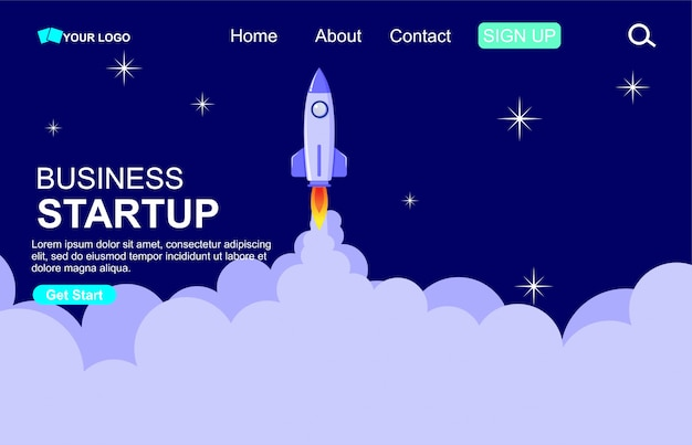 Business start up concept for web page template