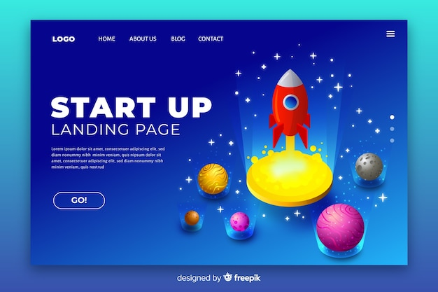 Business start-up landing page