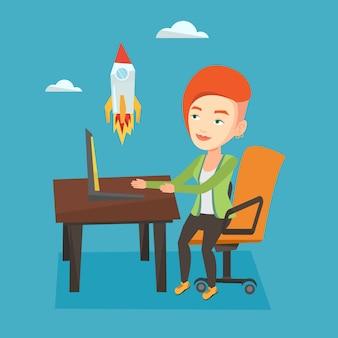 Business start up vector illustration.